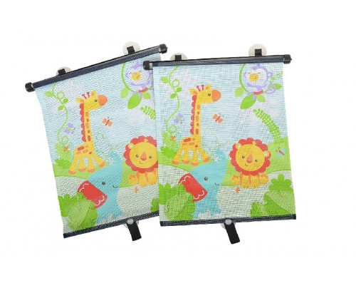 Fisher-Price Rainforest Friends Retractable Blind Twin Pack
